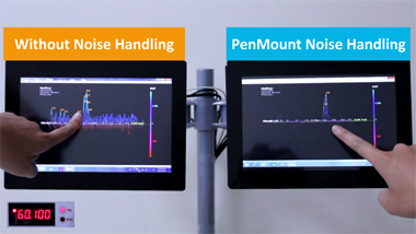 A high Noise Immunity Projected Capacitive (PCAP/PCI) Touch Screen