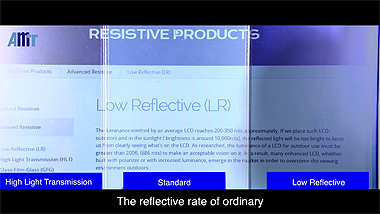 AMT Low Reflective Resistive Touch Panel
