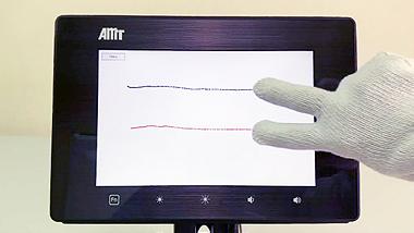 AMT 10.1 吋觸控顯示面板展示機台